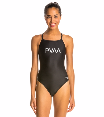 Women's Team Suit - Speedo Women's PowerFLEX Eco Solid Flyback One Piece Swimsuit