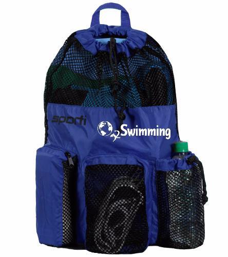 O2 Blue - Sporti Equipment Mesh Backpack