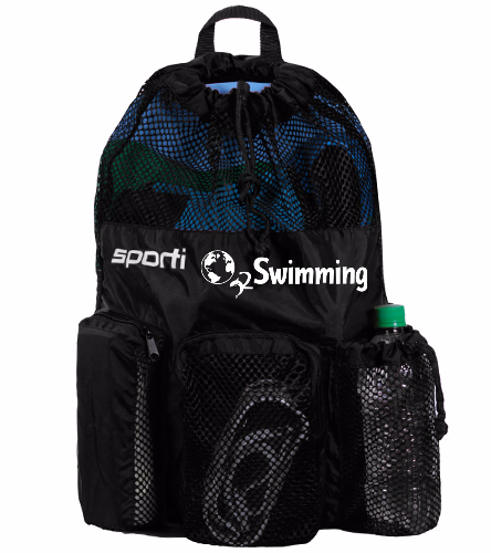 O2 Black - Sporti Equipment Mesh Backpack