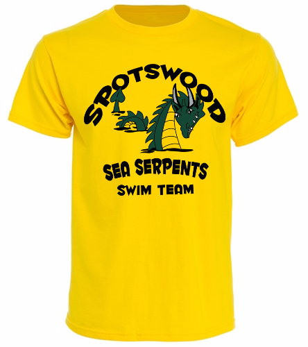 Sea Serpent Yellow t-shirt -  Unisex 100% Cotton 30's RS S/S