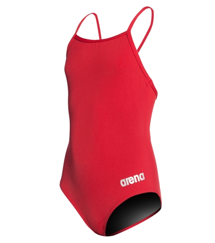 OVST Red  - Arena Girls' Master MaxLife Thin Strap Micro Back One Piece Swimsuit