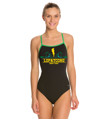 Girls 2019 custom team suit size 26-40 - Sporti Poly Pro Piped Thin Strap One Piece Swimsuit