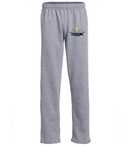 LOPAT - SwimOutlet Heavy Blend Unisex Adult Open Bottom Sweatpants