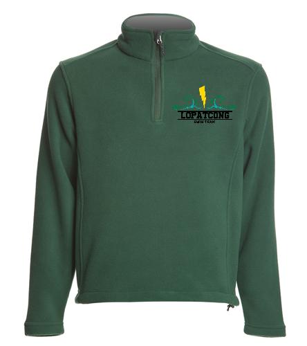 green fleece pullover - SwimOutlet Adult Unisex Fleece 1/4-Zip Pullover