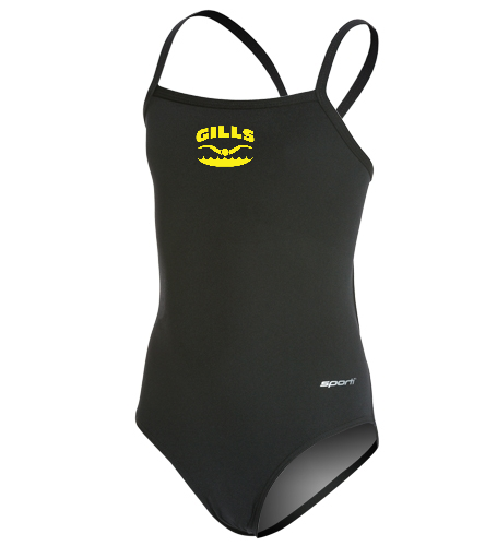 Gills  - Sporti Poly Pro Solid Thin Strap One Piece Swimsuit Youth (22-28)