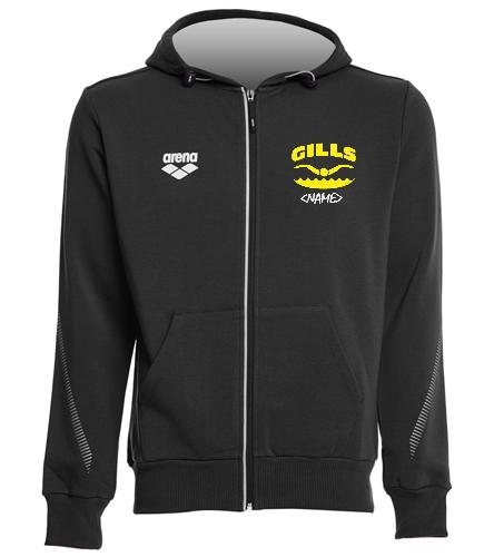 Gills Front Logo  - Arena Unisex Team Line Fleece Hooded Jacket