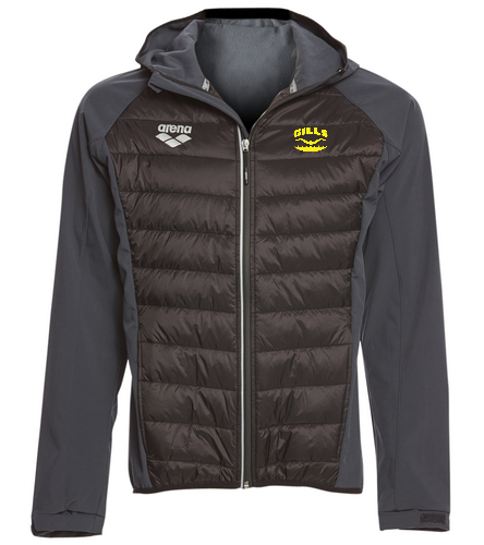 Gills Logo  - Arena Unisex Team Line Quilted Soft Shell Jacket