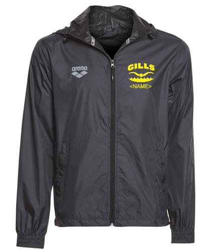 Gills  - Arena Unisex Team Line Extra Light Ripstop Windbreaker