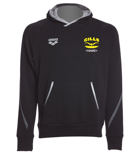 Gills  - Arena Unisex Team Line Stretch Fleece Pullover Hoodie