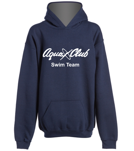 AC Navy Hoodie with Swimmer Name -  Heavy Blend Youth Hooded Sweatshirt