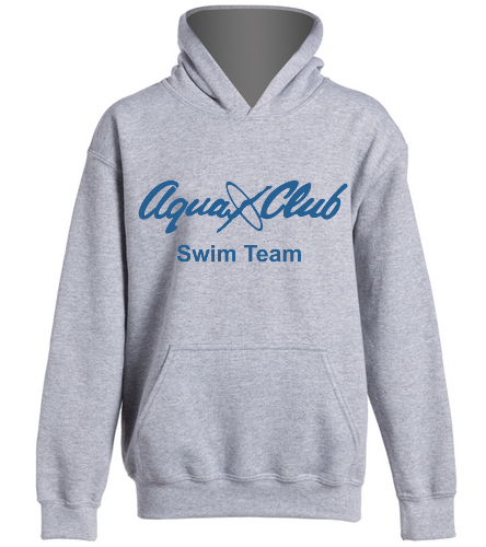 AC Grey Hoodie with Swimmer Name -  Heavy Blend Youth Hooded Sweatshirt