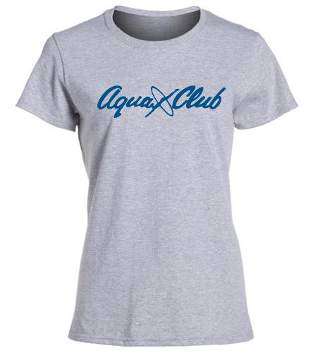 AC Womens Grey TShirt -  Heavy Cotton Missy Fit T-Shirt