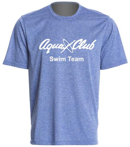 AC Blue Mens Tech T-Shirt - SwimOutlet Men's Tech Tee