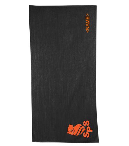 Sea Tigers Towel - Diplomat Terry Velour Beach Towel 30 x 60