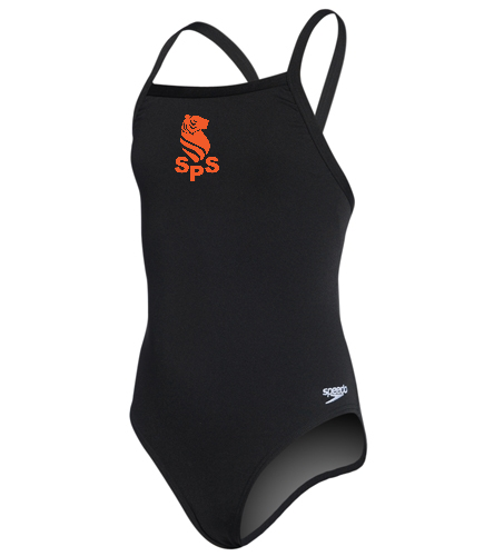 Sea Tigers - Speedo Girls' Solid Endurance + Flyback Training One Piece Swimsuit