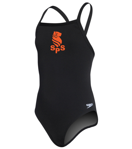 Sea Tigers Youth thin strap speedo - Speedo Girls' Solid Endurance + Flyback Training One Piece Swimsuit
