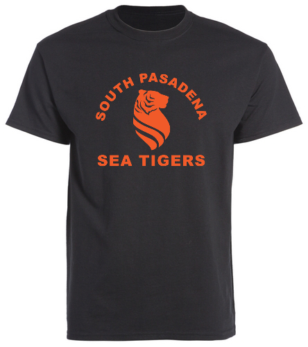 Sea Tigers Adult Single Sided T shirt - SwimOutlet Unisex Cotton Crew Neck T-Shirt