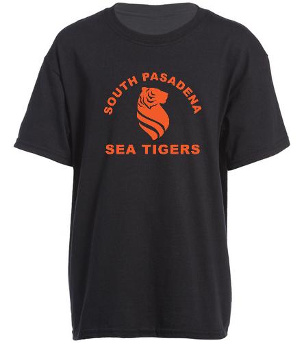 Sea Tigers Youth Single Sided T shirt - SwimOutlet Youth Cotton Crew Neck T-Shirt