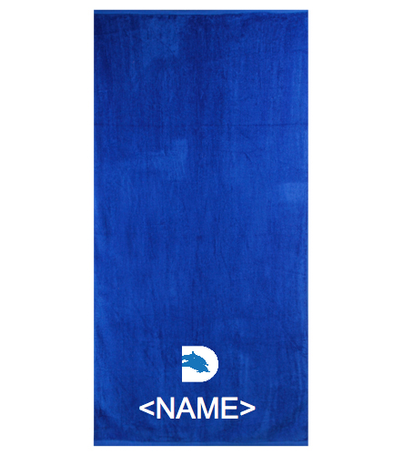 Towelwith NameLogo - Royal Comfort Terry Velour Beach Towel 32 X 64