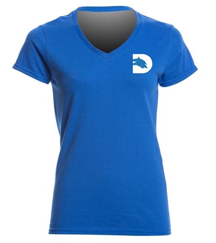 DADS Club short sleeve Ladies Vneck -  Ladies V-Neck