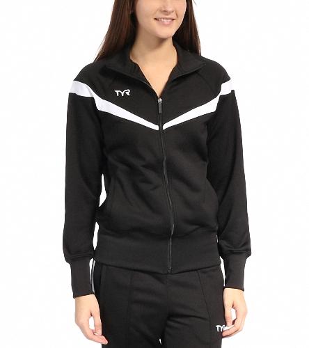 Mullica Hill Womens Tri Club - Black  - TYR Freestyle Female Warm Up Jacket