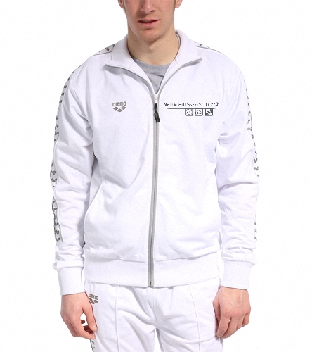 white jacket - Arena Throttle Warm Up Jacket