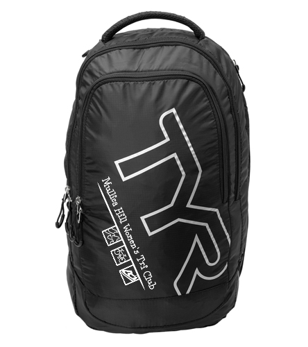 Tyr Black white - TYR Victory Backpack