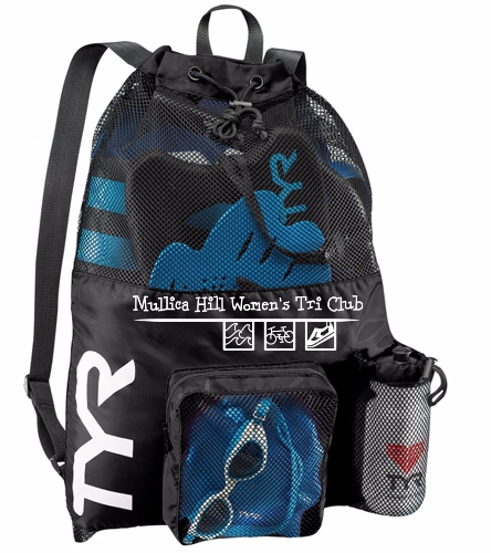 tyr bag black - TYR Big Mesh Mummy Backpack III