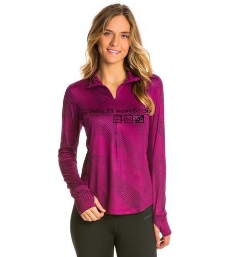 Purple pullover - Brooks Women's Dash 1/2 Zip Pullover