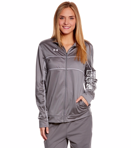 warm up gray - Under Armour Women's Rival Knit Warm-Up Jacket