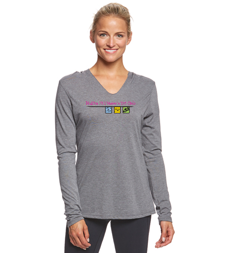 gray top - SwimOutlet Women's Perfect Long Sleeve Hoodie