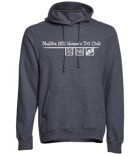 dark gray hoodie - SwimOutlet Adult Fan Favorite Fleece Pullover Hooded Sweatshirt