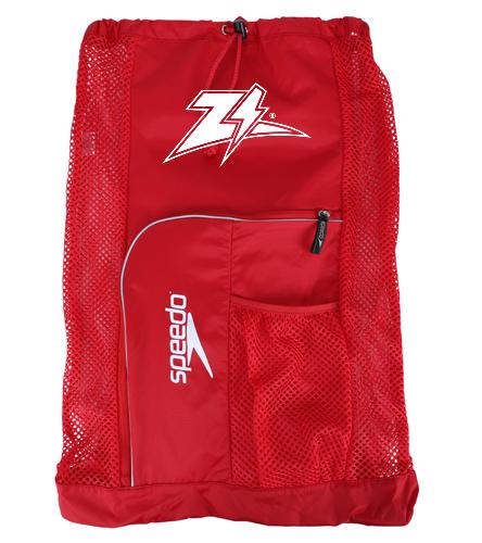Zizzer Red Mesh Speedo Bag - Speedo Deluxe Ventilator Mesh Bag
