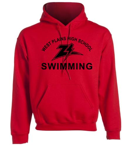 Zizzer Swimming Red - SwimOutlet Heavy Blend Unisex Adult Hooded Sweatshirt