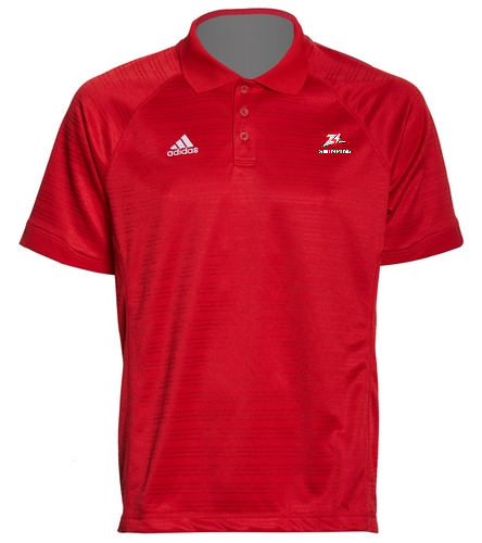 Zizzer Swimming Red Polo - Adidas Men's Select Polo