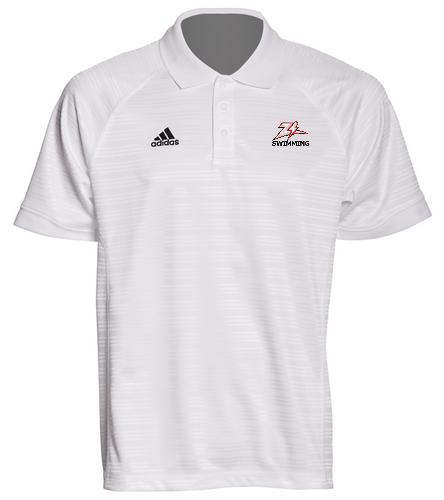 Zizzer Swimming White Polo - Adidas Men's Select Polo