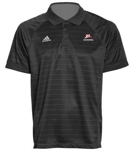Zizzer Swimming Black Polo - Adidas Men's Select Polo