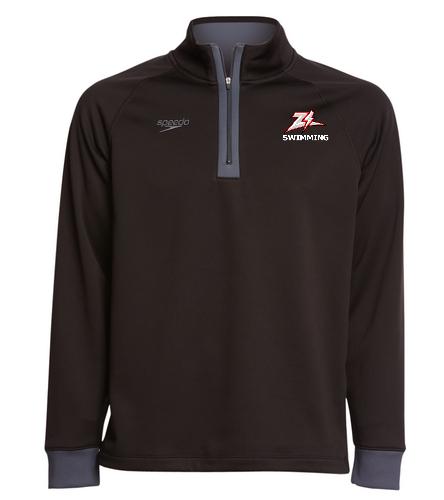 ZizzerSwimBlk - Speedo Unisex 3/4 Zip Sweatshirt