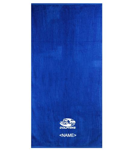 Terry Velour Beach Towel - Royal Comfort Terry Velour Beach Towel 32 X 64