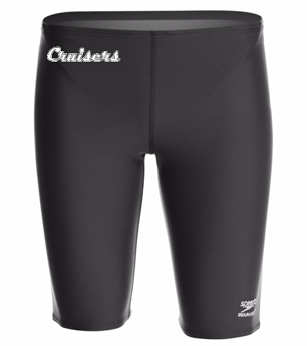 Black Male Endurance Jammer - Speedo Men's Solid Endurance+ Jammer Swimsuit