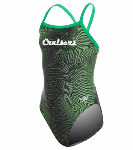 Team Hydro Amp Youth - Speedo PowerFLEX Eco Girls' Hydro Amp Flyback One Piece Swimsuit