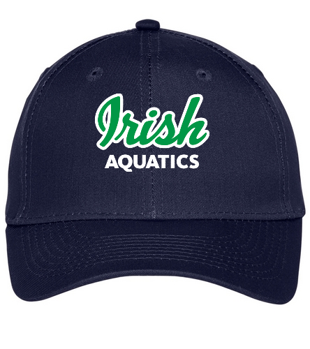 Irish Aquatics Navy  - SwimOutlet Unisex Performance Twill Cap