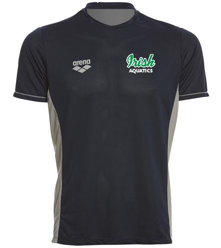Irish Aquatics Navy  - Arena Men's Team Line Crew Neck Short Sleeve Tech T Shirt