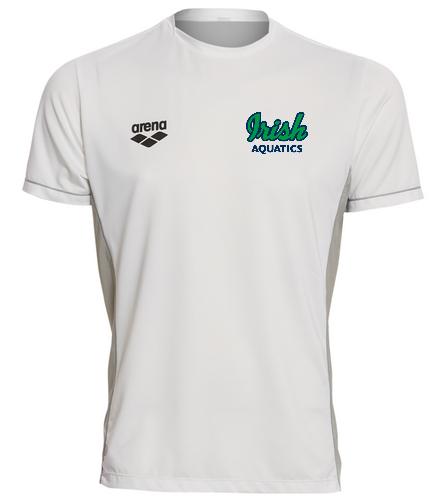 Irish Aquatics White  - Arena Men's Team Line Crew Neck Short Sleeve Tech T Shirt