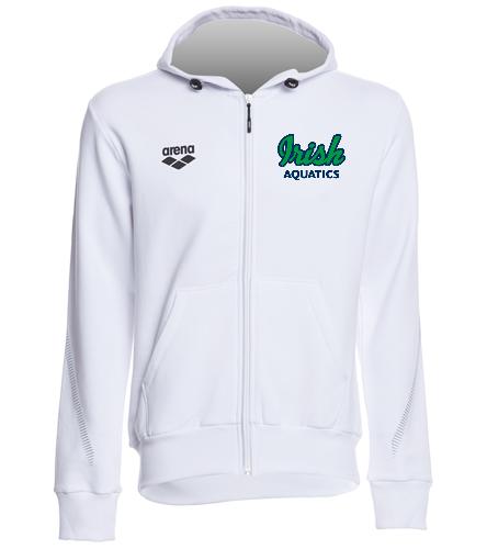 Irish Aquatics White  - Arena Unisex Team Line Fleece Hooded Jacket