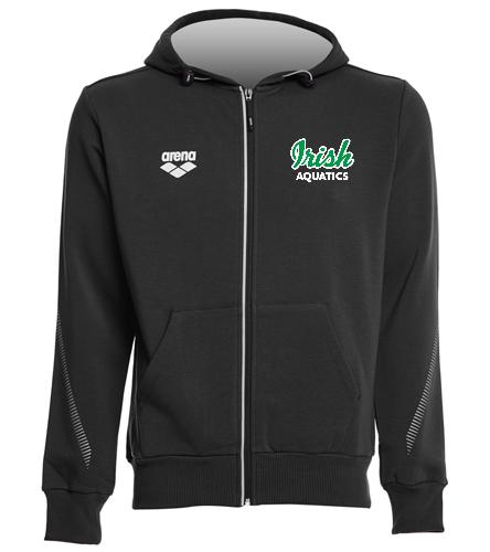 Irish Aquatics Black  - Arena Unisex Team Line Fleece Hooded Jacket