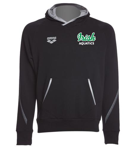Irish Aquatics Black  - Arena Unisex Team Line Stretch Fleece Pullover Hoodie