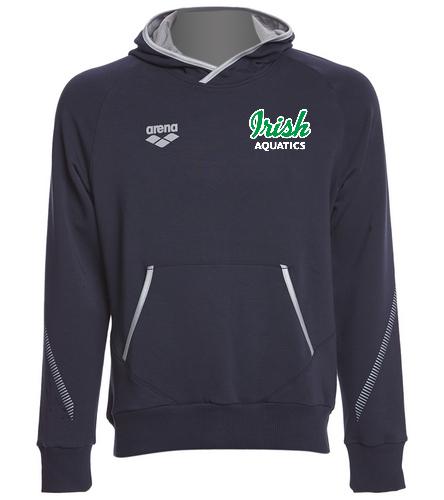 Irish Aquatics Navy  - Arena Unisex Team Line Stretch Fleece Pullover Hoodie