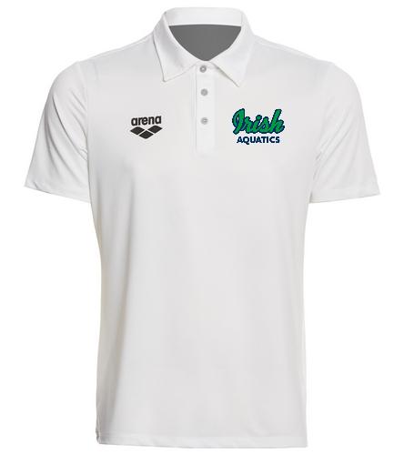 Irish Aquatics White  - Arena Unisex Team Line Tech Short Sleeve Polo