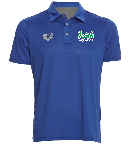 Irish Aquatics Royal  - Arena Unisex Team Line Tech Short Sleeve Polo